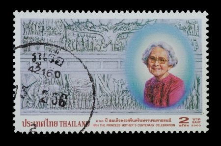 THAILAND - CIRCA 2000  A stamp printed in Thailand ,The centenary Celebration of the Birth of Her Royal Highness princess Srinagarindra the Princess Mothe Commemorative Stamp , circa 2000