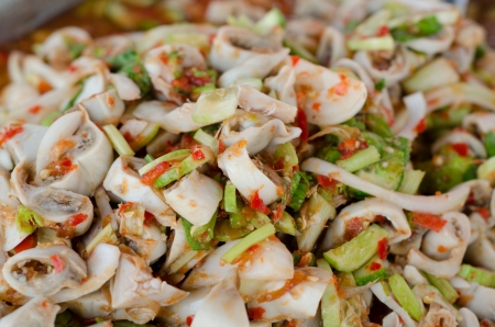 chitterlings: spicy chitterlings salad Stock Photo