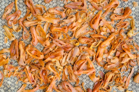 mace: Dride Mace spice Mace or Javitri Spice on bamboo background