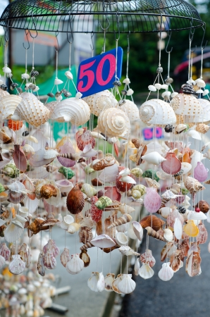Mobile made from various shells for sale in Phuket,Thailand Stock Photo - 23727691