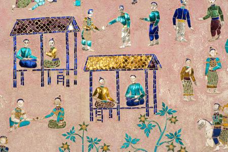 murals: Murals of wat xieng thong,Laos