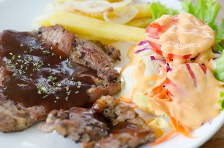 pork chop: Pork chop steak