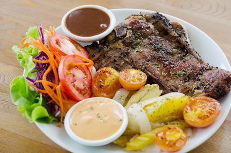 t bone steak: t bone steak Stock Photo
