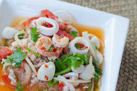 spicy vermicelli salad photo
