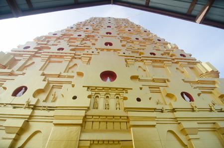 kanchanaburi: Buddhakaya Chedi, Sangklaburi,  kanchanaburi, Thailand. Stock Photo
