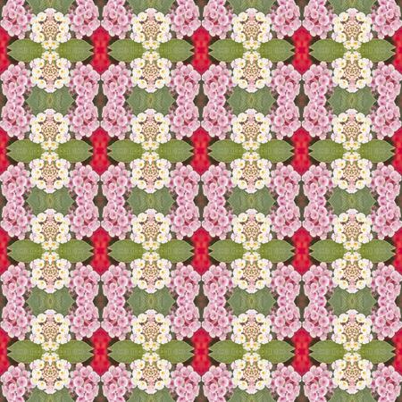 lantana camara: lantana camara flower seamless pattern background, vintage flower