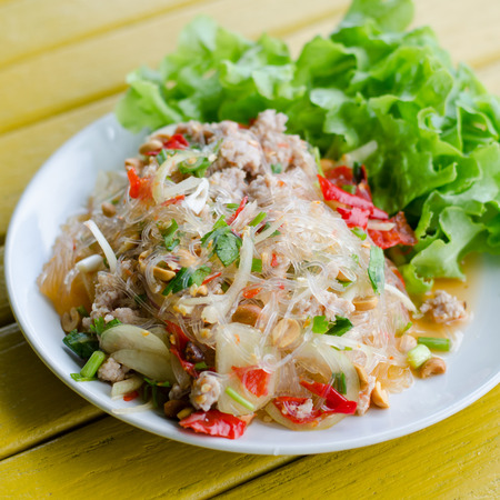 person appetizer: Spicy vermicelli salad