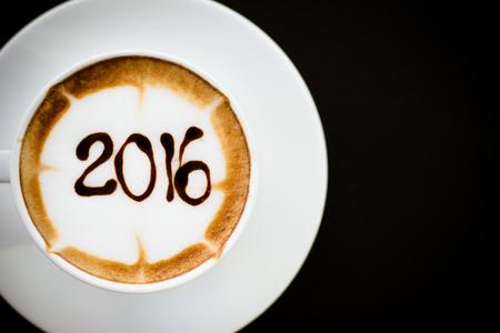 hot coffee with foam milk art 2016 pattern