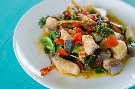 belly pepper: Stir Fried Spicy Mekong River fish
