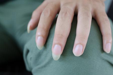 long: long fingernails Stock Photo
