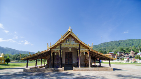 old church at Wat Sri Pho Chai Sang Pha temple in Loei province, Thailand (Temples built during the Ayutthaya period)