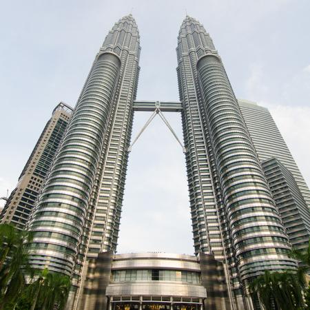 tallest bridge: Petronas Twin towers KLCC at Kuala Lumper, Malaysia Editorial