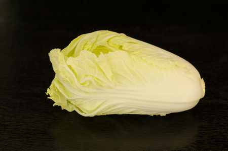 nappa: Nappa cabbage.Chinese Cabbage Brassica rapa L. (Pekinensis Group) on black background