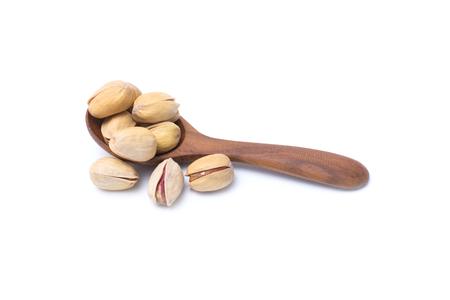 Pistachio nut isolated on white background
