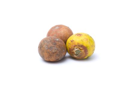 Rotten lemon isolated on white background Stock Photo
