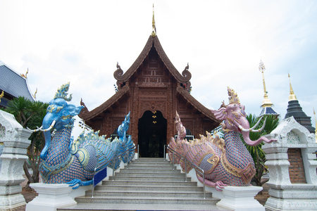 Wat Den Salee Sri Muang Gan (The Grand Blue Temple) , or Wat Ban Den, a beautiful temple in Amphur Mae Tang Chiang Mai