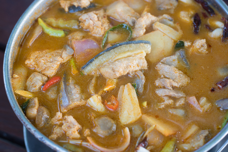 Thai food : The Mekong river fish soup (Mekong river fish tom yum)