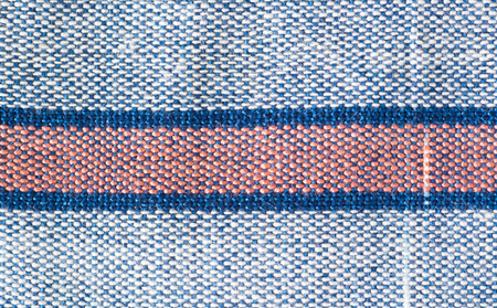 Handmade cotton woven fabric as a background and texture Stock fotó