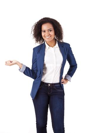 Beautiful african woman posing Stock Photo - 17242538