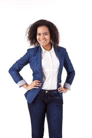 african business woman: Beautiful african woman posing Stock Photo