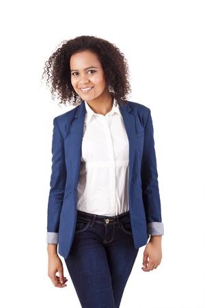 Beautiful african woman posing Stock Photo - 17242541