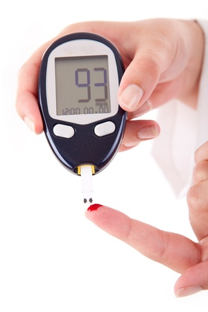 diabetes: Paciente Diabetes de medici�n del nivel de glucosa sangu�nea