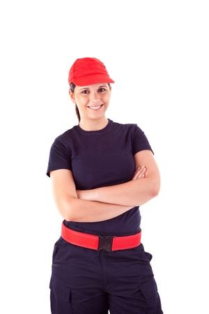 Beautiful woman with professional uniform photo
