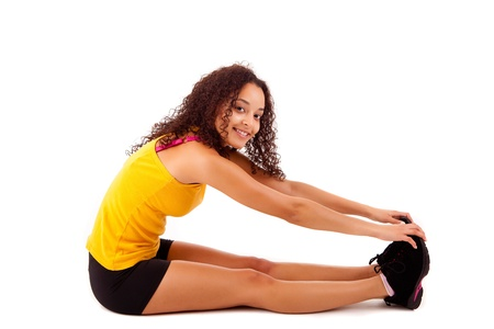 Pretty young african woman doing exercise - Fitness Concept Stock Photo - 17300263
