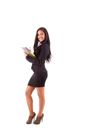 Beautiful woman scheduling an appointment Stock Photo - 17268369