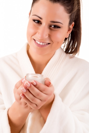 remover: Beautiful woman cleaning her skin - Beauty Care