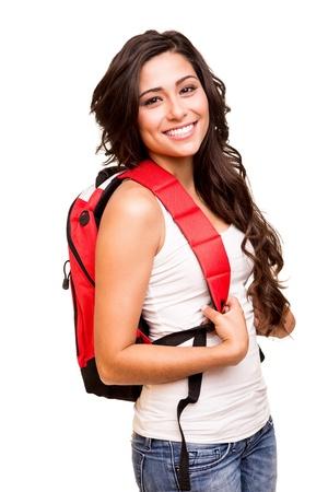 magabiztos: Fiatal boldog diák Stock fotó