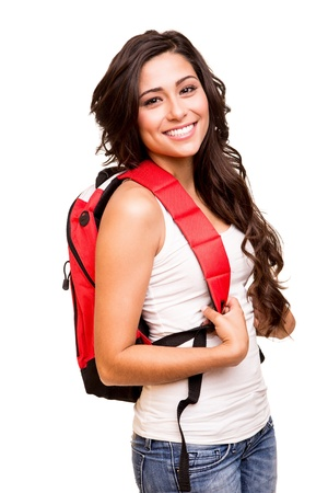 hispanic women: Young happy student Stock Photo