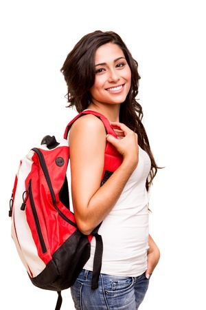 hispanic girls: Young happy student Stock Photo