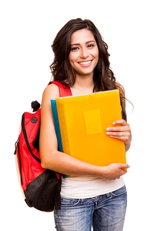 latina girl: Young happy student Stock Photo