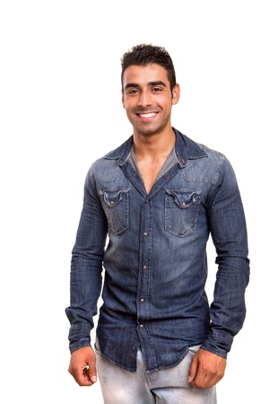 latino man: Portrait of a smiling young man Stock Photo