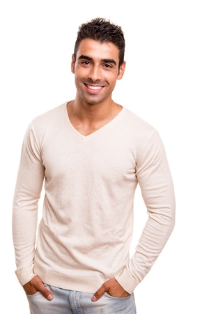 smiling man: Portrait of a smiling young man Stock Photo