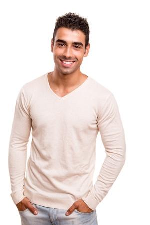 Retrato de un hombre joven y sonriente Foto de archivo - 21090546
