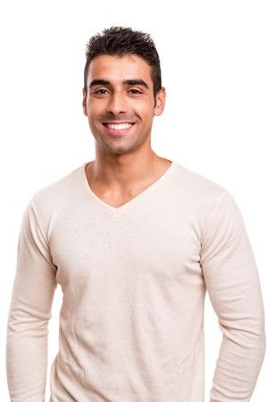 Portrait d'un jeune homme souriant Banque d'images