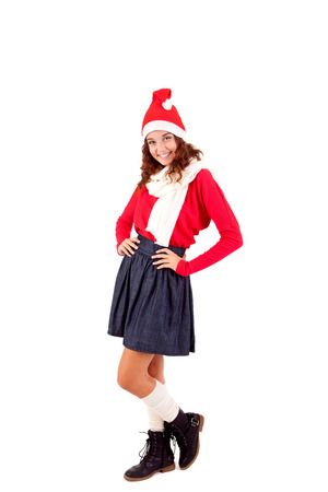 Beautiful woman posing for Christmas Stock Photo - 23565598