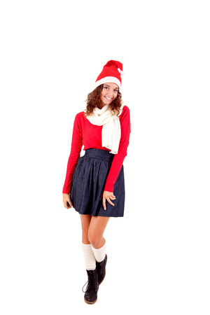 Beautiful woman posing for Christmas Stock Photo - 23565664