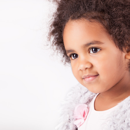 Portrait of a beautiful african descent child photo
