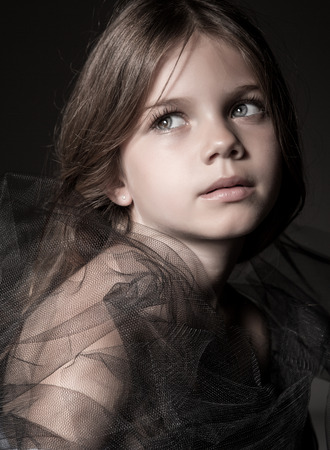 tulle: High Fashion Portrait of a young model