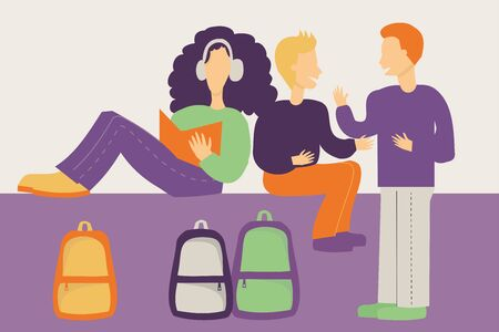 Illustration of students - Back to School concept
