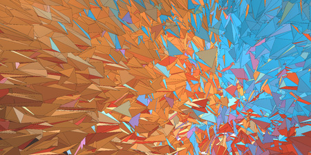 ejaculation: Polygonal colorful abstract graphic background movement look with hard stroke line on