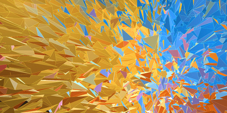 ejaculation: Polygonal colorful abstract graphic background movement look with overlay white line Illustration