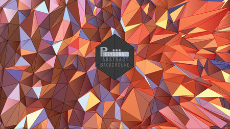 Polygonal abstract colorful background vector