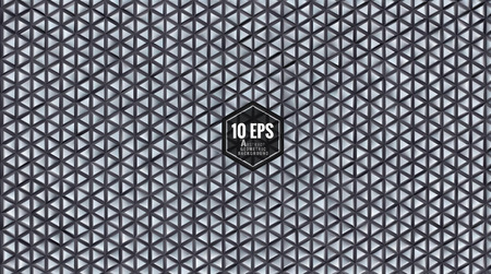 Abstract solid geometric triangular pattern background with matte gray metalic meterial Illustration