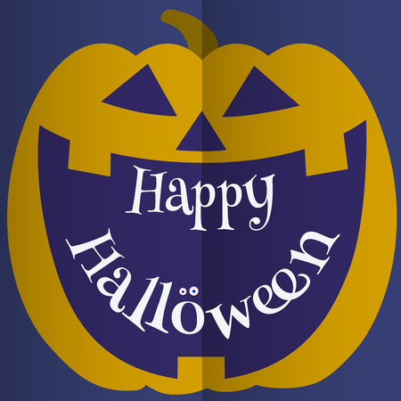 A Jack-o-lantern smile with space for Halloween greeting text.