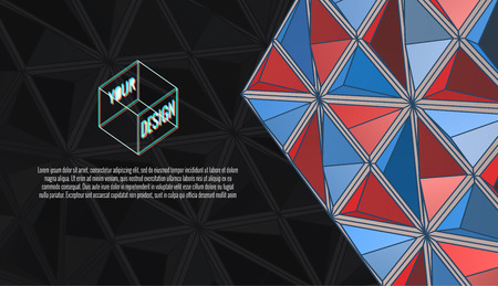 Abstract colorful triangular geometric template background with dark and colorful design