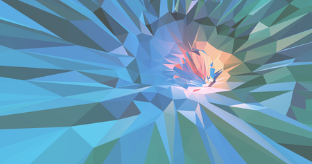 Green polygonal art abstract shining with colorful composition background
